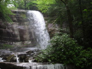 At nearly 80 feet, Rainbow Falls is the longest plunge of water in the Great Smoky Mountains National Park